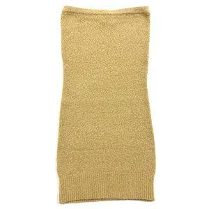 BCBGMaxAzria Tan Wool Mini Dress